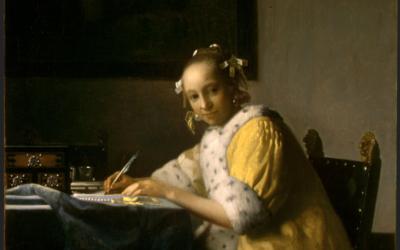 """06.12.20 – Jan Vermeer – """"Briefschreiberin in Gelb"""" (1665-1670)."""