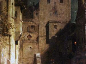 """24.01.21 – Carl Spitzweg – """"Der eingeschlafene Nachtwächter"""" (1875)."""