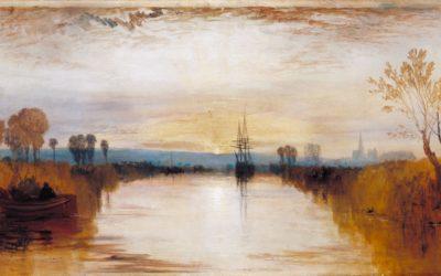 "08.11.20 – William Turner  – ""Chichester Canal"" (1828)."