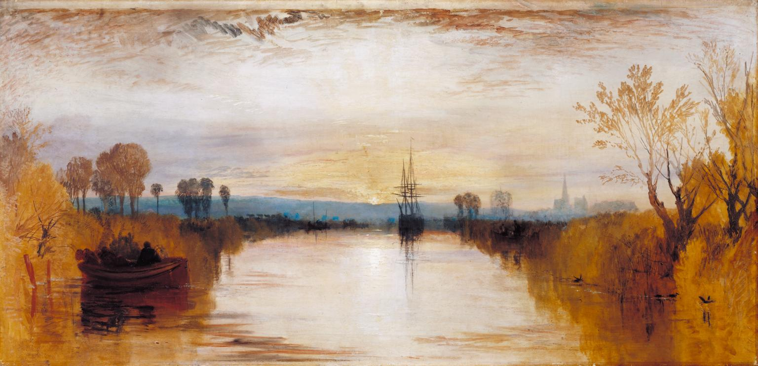 "08.11.20 – William Turner  – ""Chichester Canal"" (1828)."