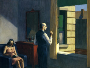 "01.11.20. – Edward Hopper – ""Hotel am Bahndamm"" (Hotel By A Railroad) (1952)."
