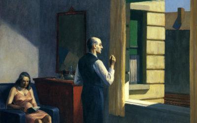 """01.11.20. – Edward Hopper – """"Hotel am Bahndamm"""" (Hotel By A Railroad) (1952)."""
