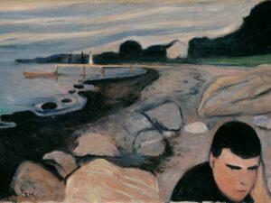 """10.01.21 – Edvard Munch – """"Melancholie"""" (1892)."""