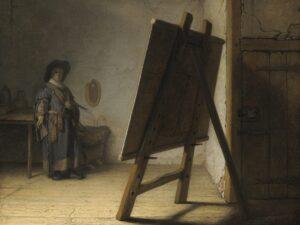 """27.12.20 – Rembrandt van Rijn – """"Der Künstler in seinem Atelier"""" (1626)."""