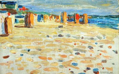 """29.11.20 – Wassily Kandinsky – """"Strandkörbe in Holland"""" (1904)."""