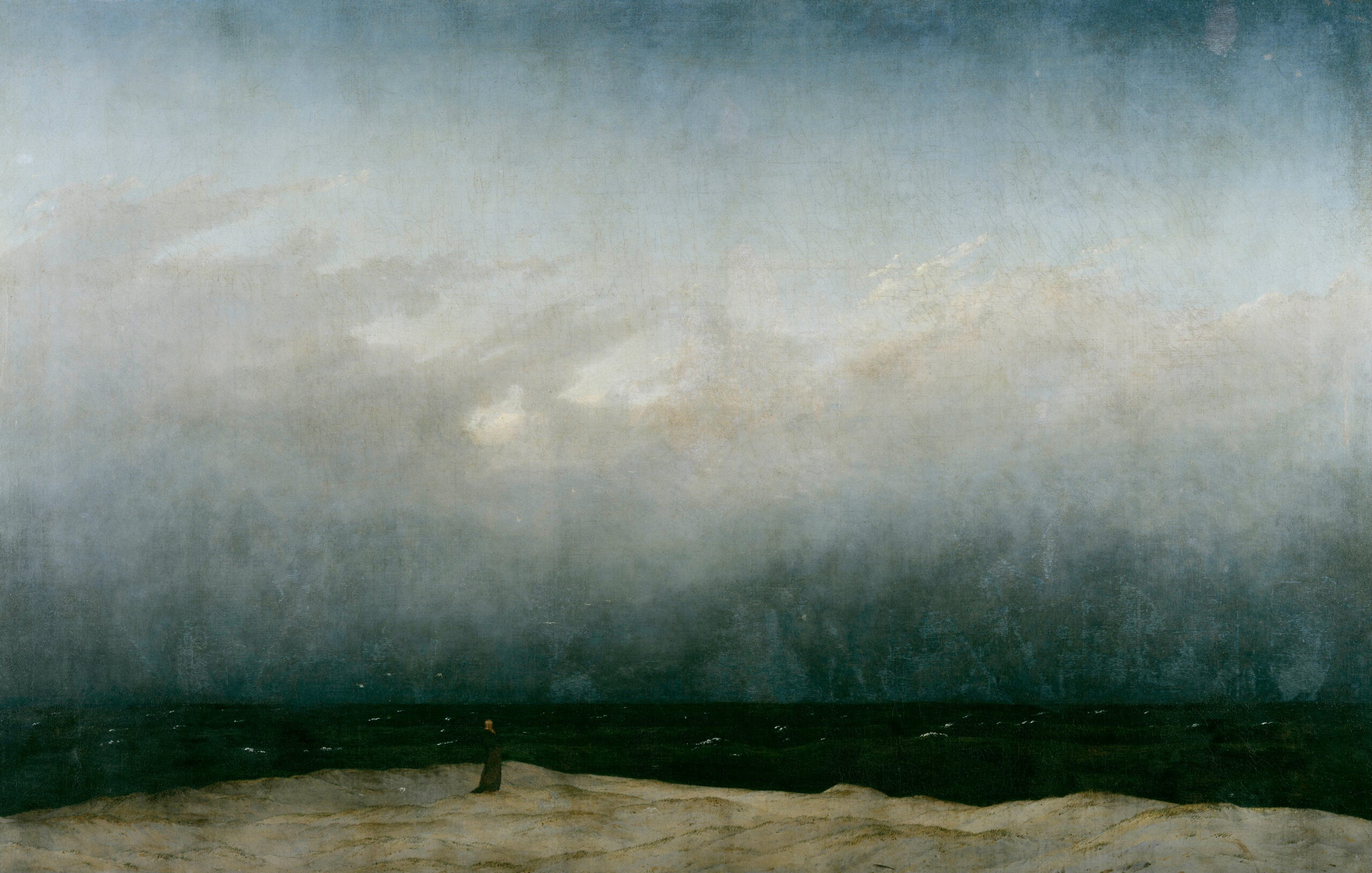 "31.01.21 – Caspar David Friedrich – ""Mönch am Meer"" (1808-1810)."