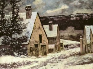 "07.02.21 – Gustave Courbet – ""Dorfausgang im Winter"" (1865-1870)."