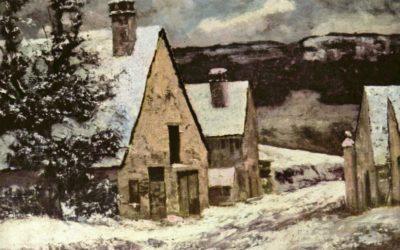 "07.02.21 – Gustave Courbet – ""Dorfausgang im Winter"" (1865-1870)."