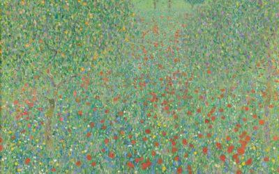 """21.02.21 – Gustav Klimt – """"Blühender Mohn"""" (1907)."""