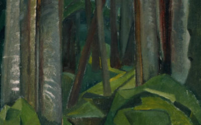 "21.03.21 – Emily Carr – ""Untitled (forest scene)"" (ca. 1932)."