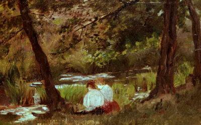 """25.04.21 – Mary Cassatt – """"Zwei am Strom sitzende Frauen"""" (1869)."""
