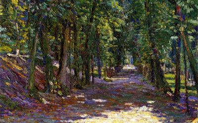 """04.04.21 – Gabriele Münter – """"Allee im Park von Saint-Cloud"""" (1906)"""