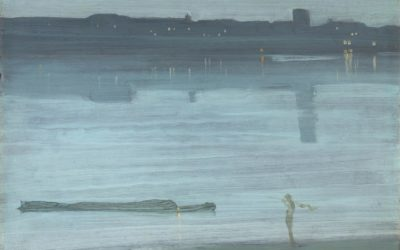 """16.05.21 – James Whistler – """"Nocturne: Blue and Silver – Chelsea"""" (1871)."""