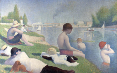 "13.06.21 – Georges Seurat – ""Badestelle in Asnières"" (1883/48)."