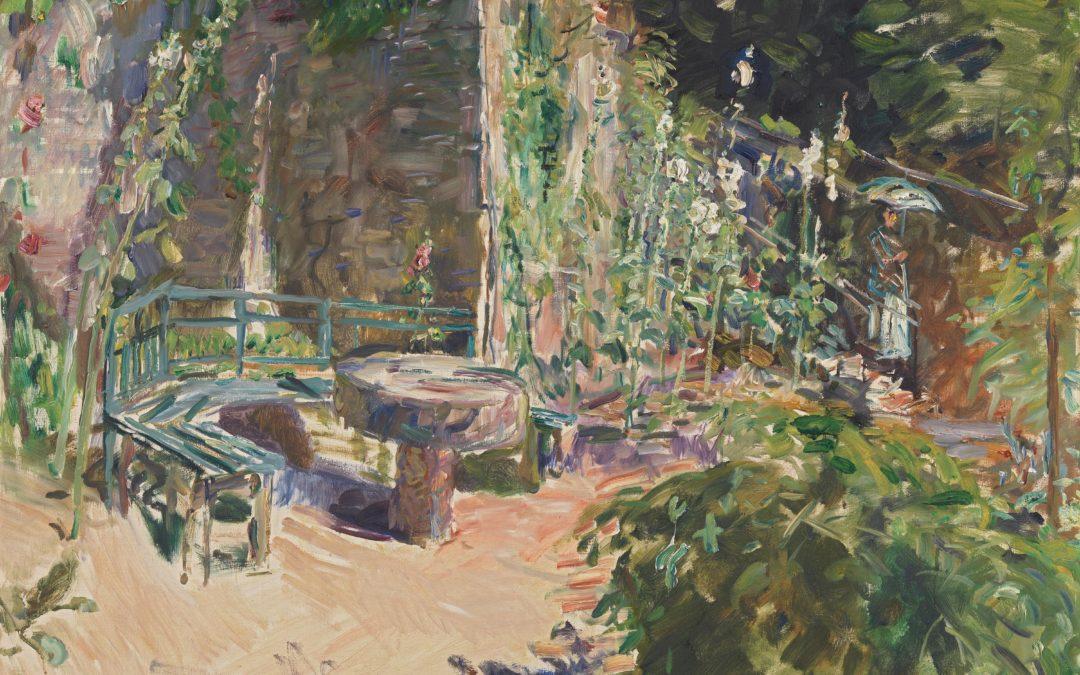 """06.06.21 – Max Slevogt – """"Sonnige Gartenecke"""" (1921)."""