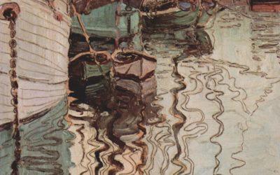 """18.07.21 – Egon Schiele – """"Der Hafen von Triest"""" (1907)."""