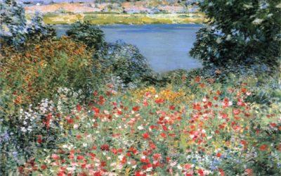 "25.07.21 – Willard Leroy Metcalf – ""Garten mit Mohnblumen"" (1905)."