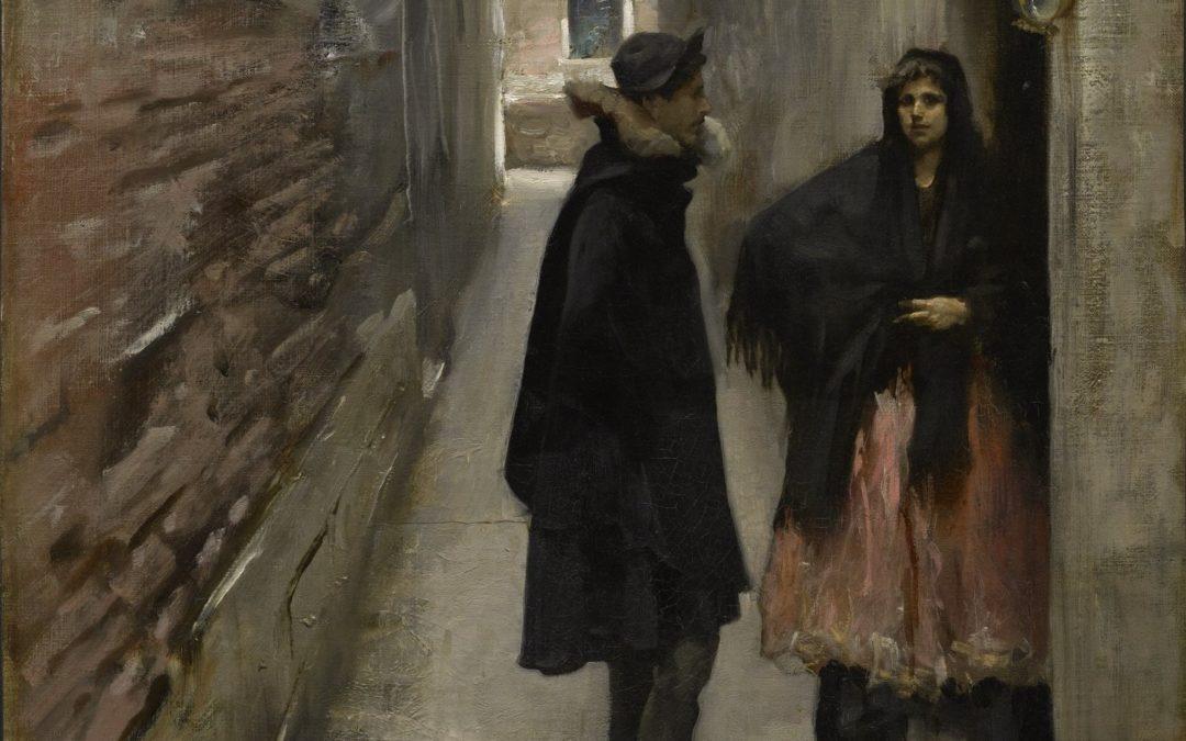 "22.08.21 – John Singer Sargent – ""A Street in Venice"" (1882)."