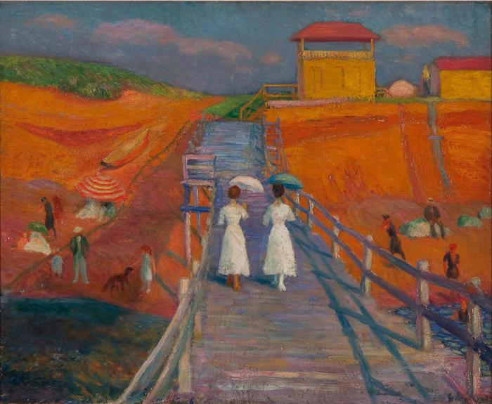 """19.09.21 – William Glackens – """"Cape Cod Pier"""" (1908)."""